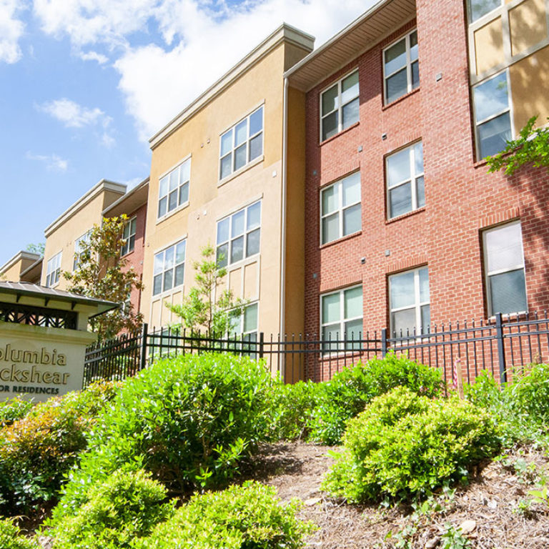 Community signage at Columbia Blackshear Senior Residences - Senior Apartments in Atlanta, GA