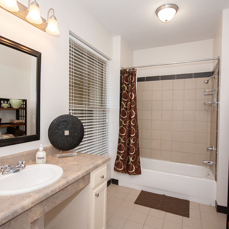 Interior bathroom at Columbia Blackshear Senior Residences - Senior Apartments in Atlanta, GA