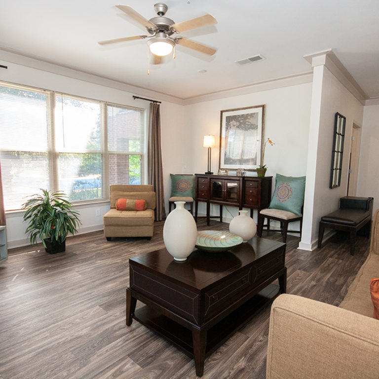 Living space at Columbia Blackshear Senior Residences - Senior Apartments in Atlanta, GA