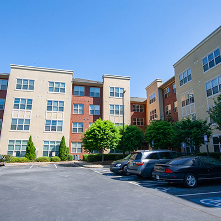 Parking area at Columbia Blackshear Senior Residences - Senior Apartments in Atlanta, GA