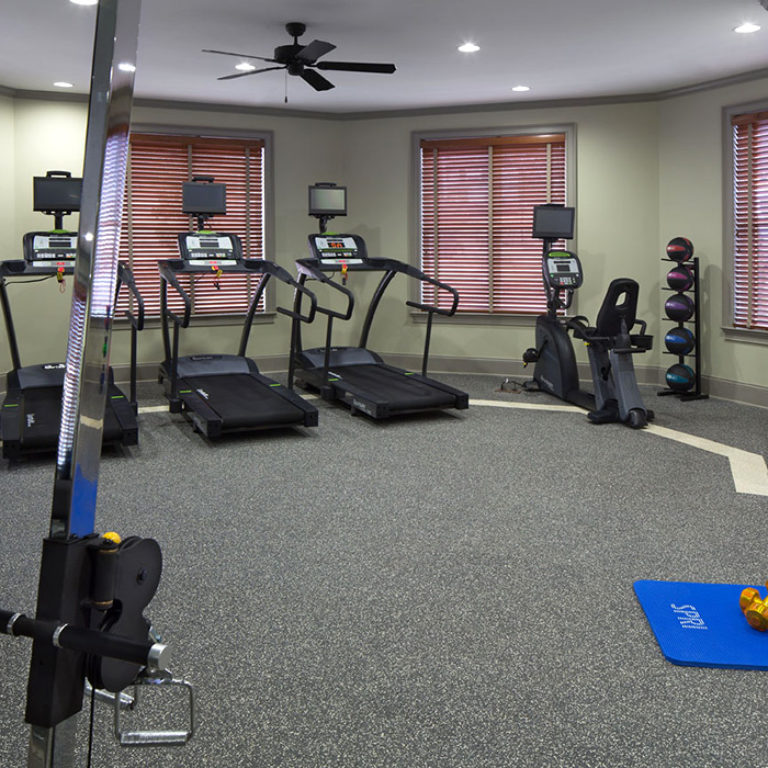 Fitness center at Columbia Brookside Senior Residences - Senior Apartments in Athens, GA
