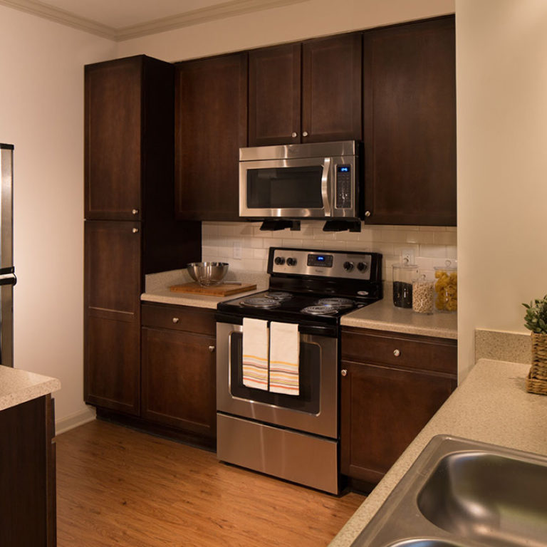 Interior kitchen at Columbia Brookside Senior Residences - Senior Apartments in Athens, GA