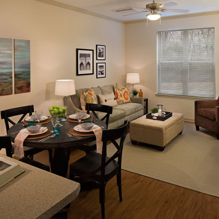 Interior living room at Columbia Brookside Senior Residences - Senior Apartments in Athens, GA