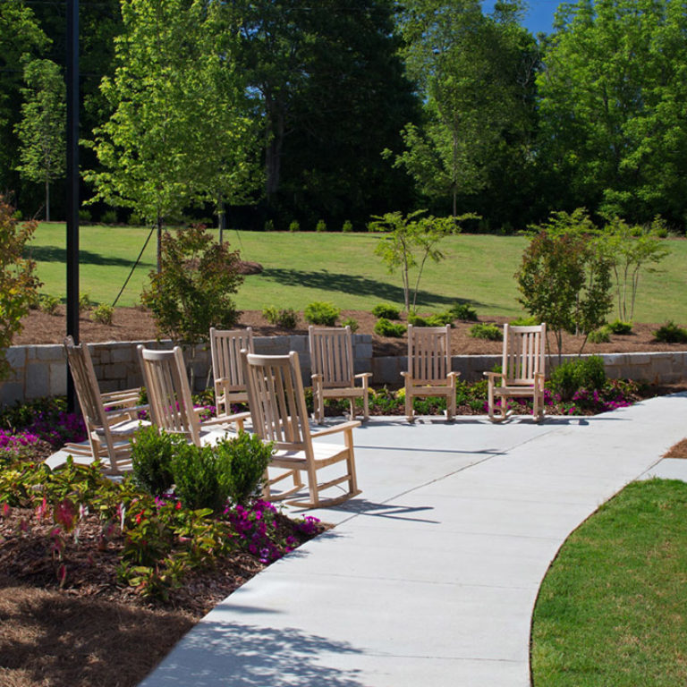 Pathways throughout Columbia Brookside Senior Residences - Senior Apartments in Athens, GA