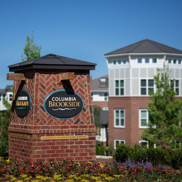 Community signage at Columbia Brookside Senior Residences - Senior Apartments in Athens, GA
