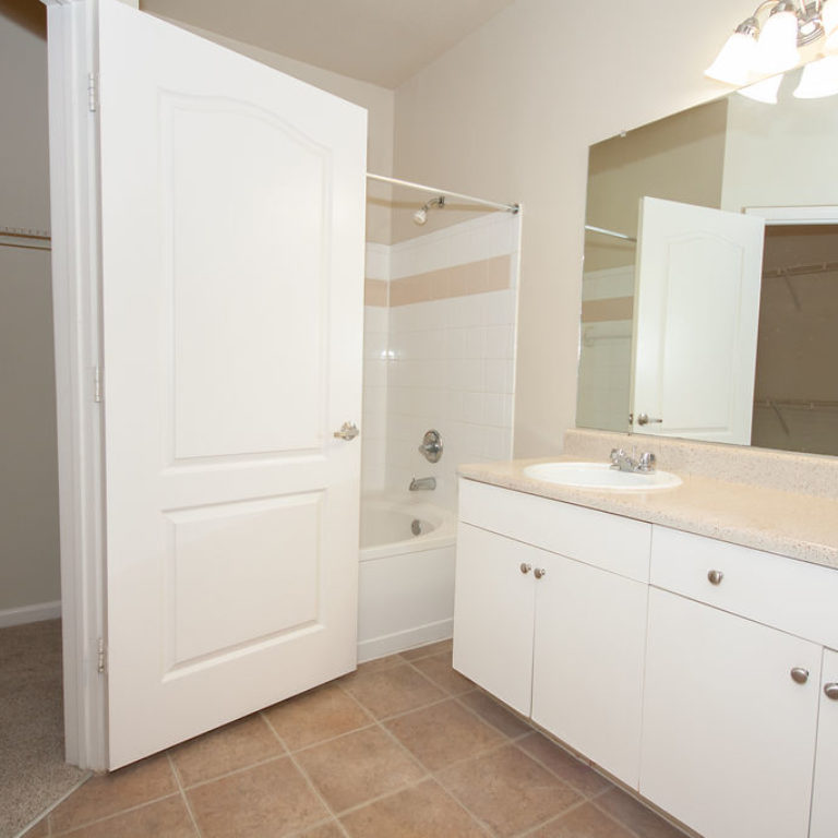 Apartment bathroom at Columbia Commons - Apartments in Atlanta, GA
