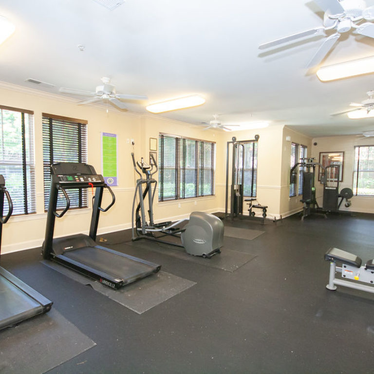 Fitness center at Columbia Commons - Apartments in Atlanta, GA