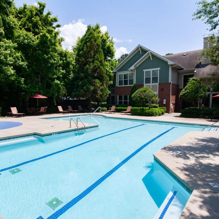 Pool area at Columbia Commons - Apartments in Atlanta, GA