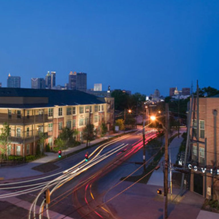 Columbia Mechanicsville Community at night- Apartments in Atlanta, GA