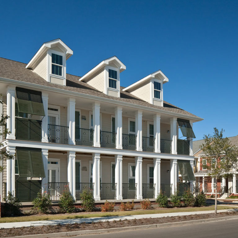 Two story apartment building at Columbia Parc at the Bayou District - New Orleans, LA