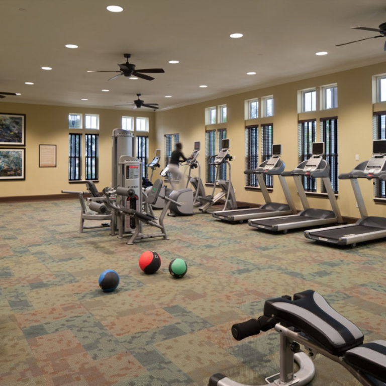Fitness center at Columbia Parc at the Bayou District - New Orleans, LA