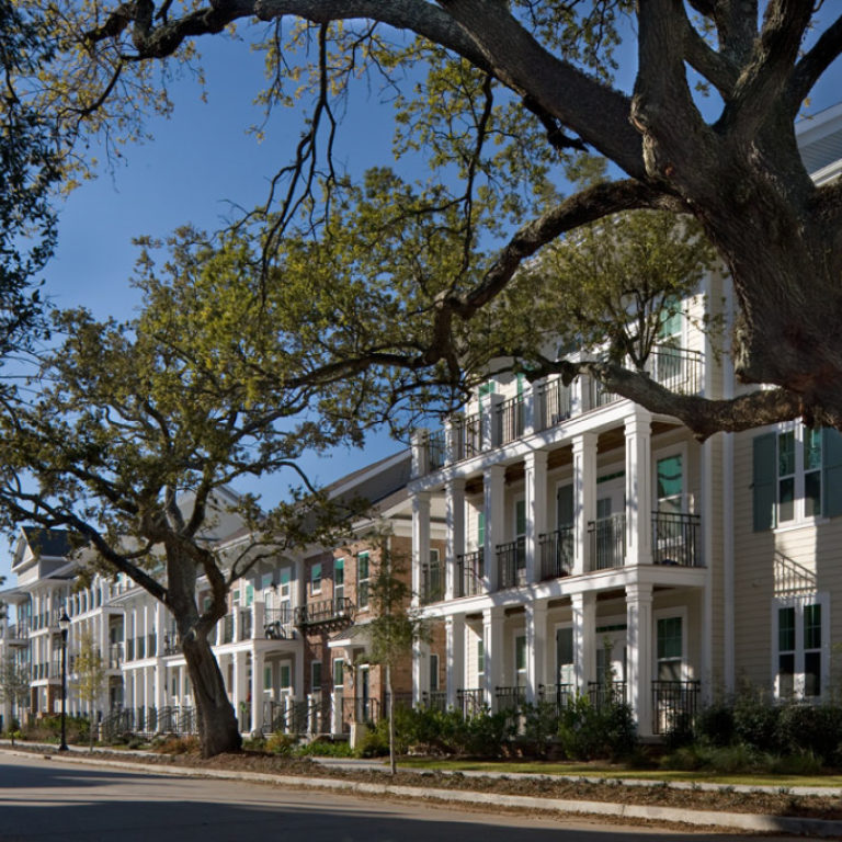 Street view of Columbia Parc at the Bayou District Community - New Orleans, LA