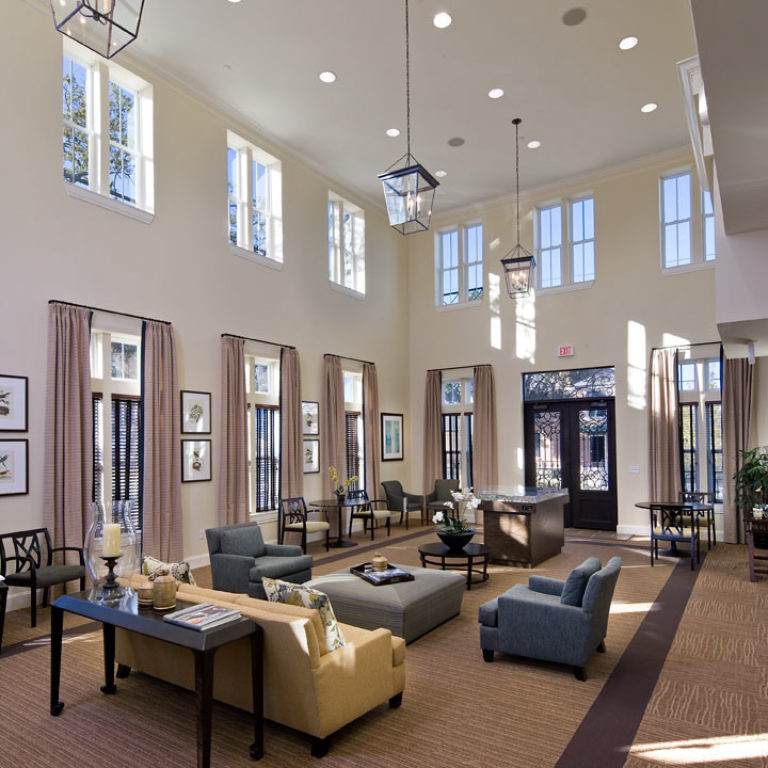 Interior of leasing office at Columbia Parc at the Bayou District Community - New Orleans, LA