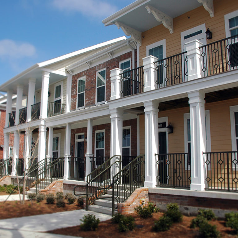 Two story residences at Columbia Parc at the Bayou District - New Orleans, LA