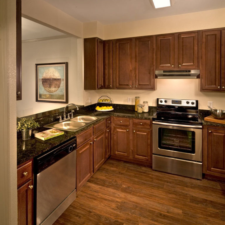 Residence kitchen at Columbia Parc at the Bayou District Community - New Orleans, LA