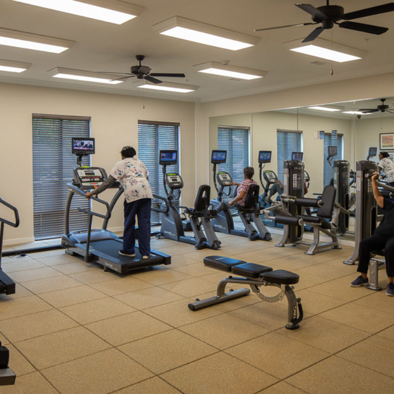 Fitness center at Columbia Senior Residences Community at Decatur East - Senior Apartments in Decatur, GA