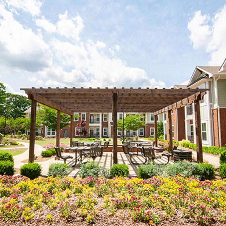 Garden area at Columbia Senior Residences at Forrest Hills - Senior Apartments at Decatur, GA