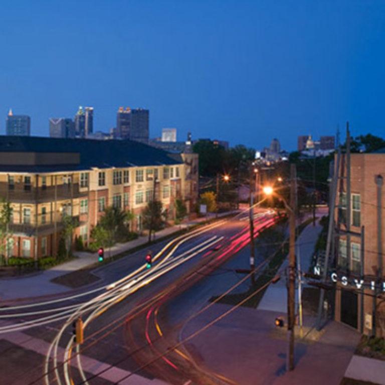 Aerial view of Columbia Senior Residences at Mechanicsville - Apartments in Atlanta, GA