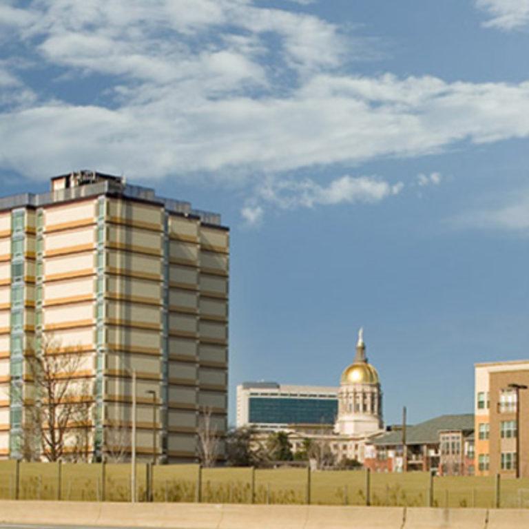 Downtown Atlanta view and Columbia Tower Residences - Apartments in Atlanta, GA