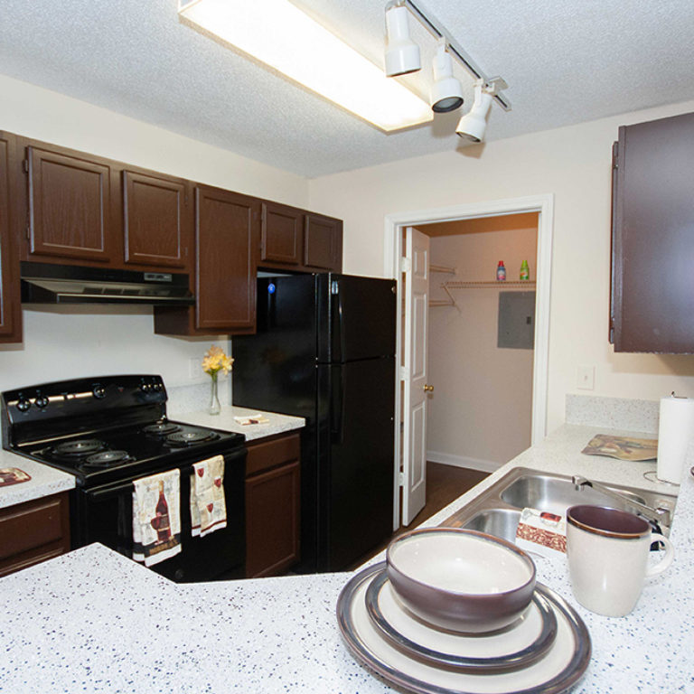 Interior kitchen at Columbia Village - Apartments in Decatur, GA
