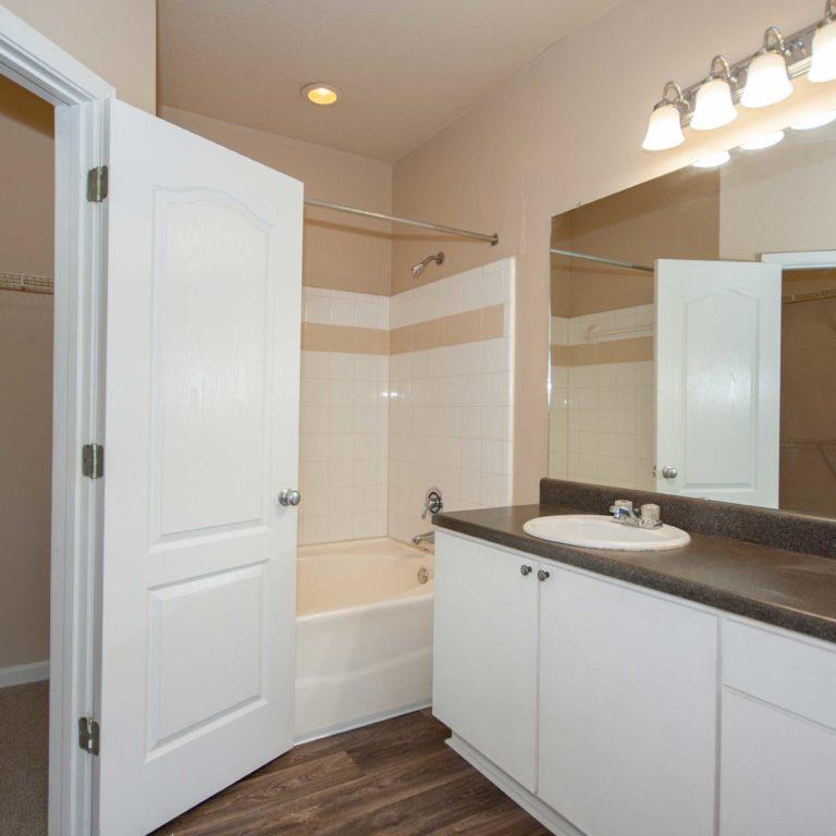 Bathroom interior at Constitution Apartments - Apartments in Atlanta, GA