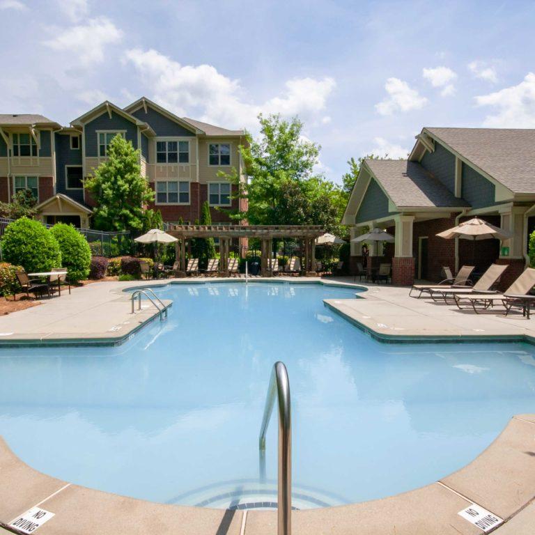 Pool deck at Constitution Apartments - Apartments in Atlanta, GA