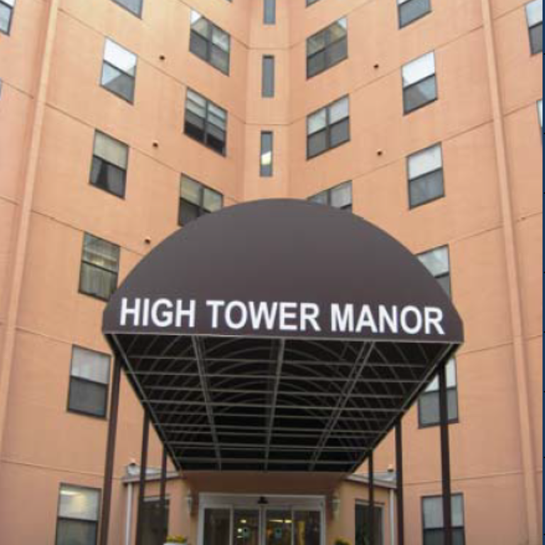 Entrance to Hightower Manor Highrise Community - Apartments in Atlanta, Georgia