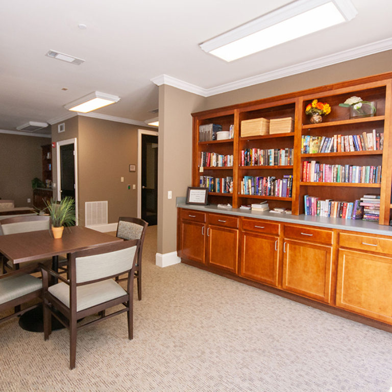 Library at The Retreat at Dorsey Manor - Senior Apartments in Marietta, GA