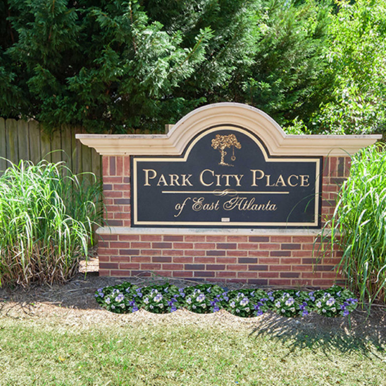 Community signage at Park City Place - Apartments in East Atlanta, GA