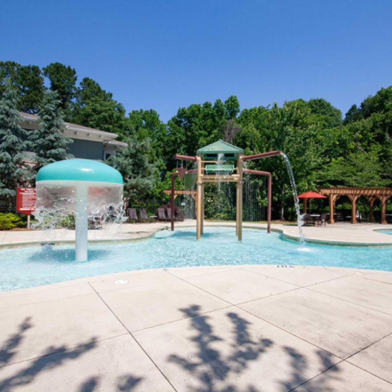 Children's splash zone at Park Commons Apartments Community - Senior Apartments in Atlanta, GA