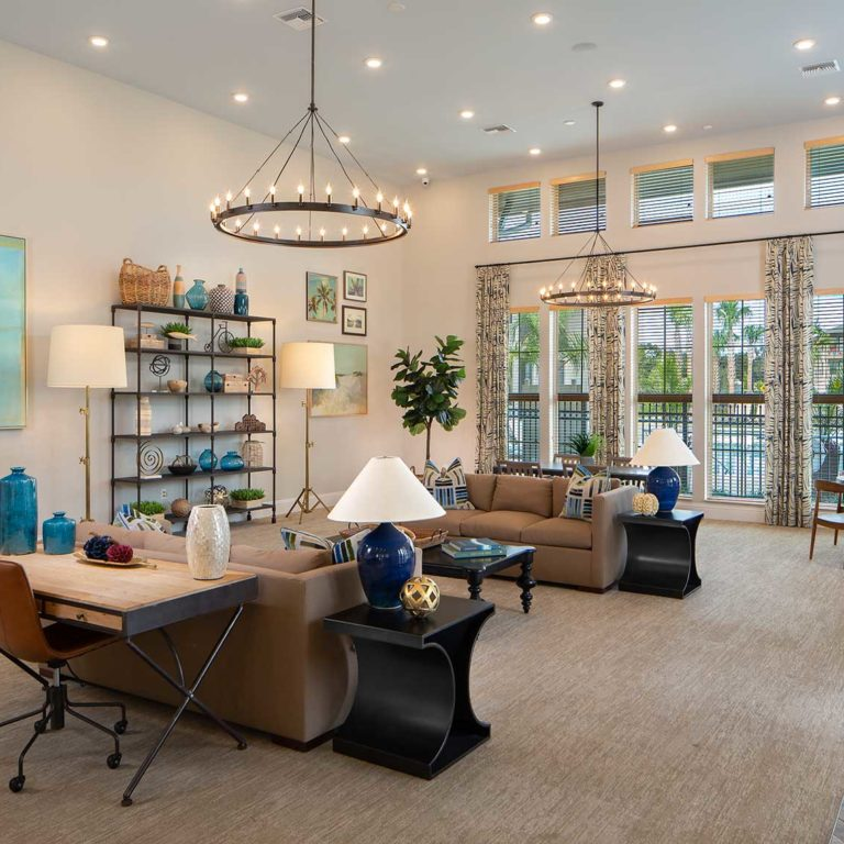 Interior of leasing office at Pendana West Lakes - Orlando, FL