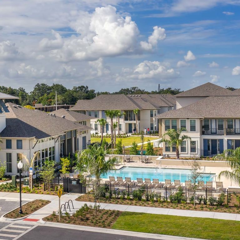 Aerial view of pool deck at Pendana West Lakes - Orlando, FL