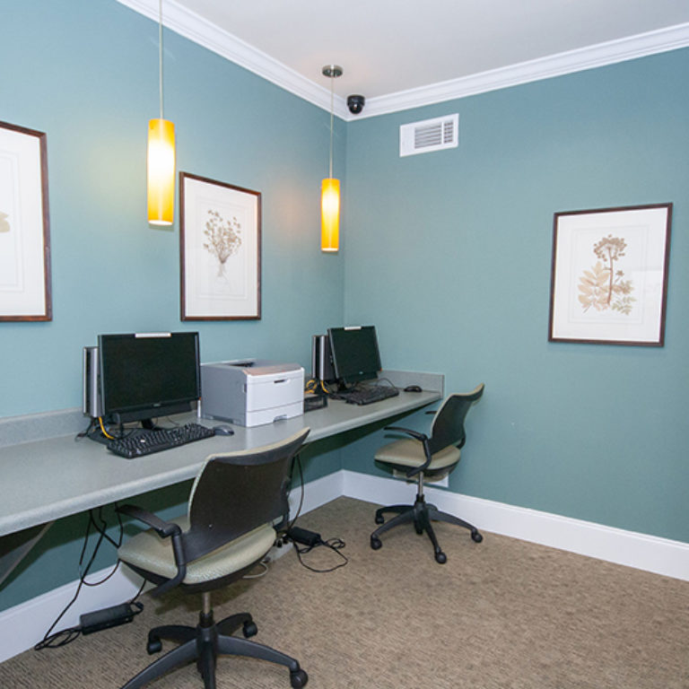 Business center at The Retreat at Dorsey Manor - Senior Apartments in Marietta, GA