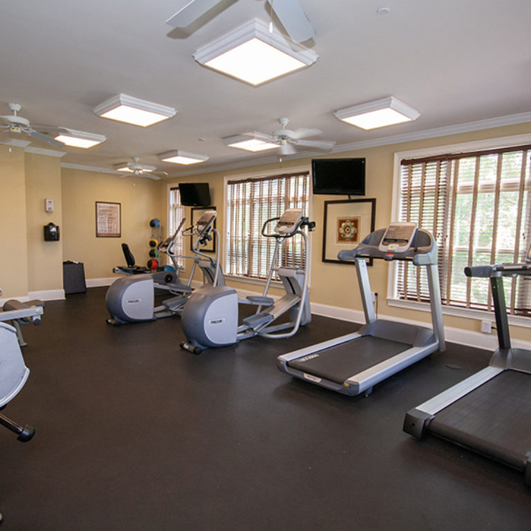Fitness center at The Retreat at Dorsey Manor - Senior Apartments in Marietta, GA
