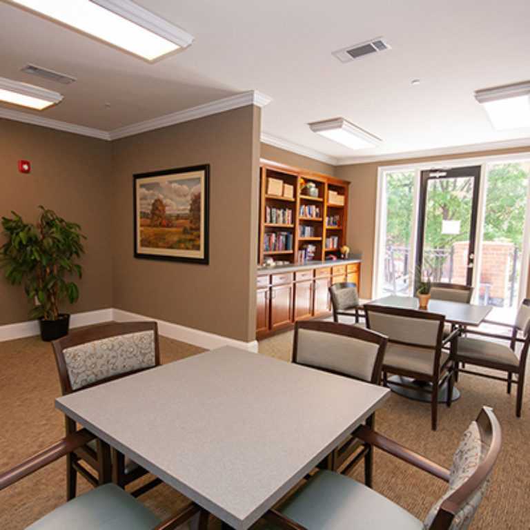 Community room at The Retreat at Dorsey Manor - Senior Apartments in Marietta, GA