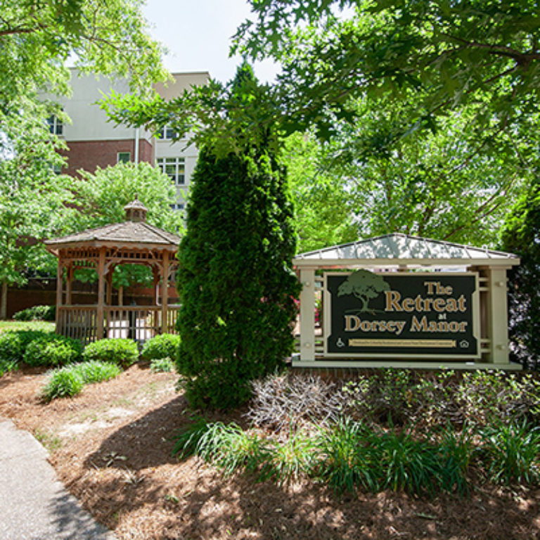 Community signage at The Retreat at Dorsey Manor - Senior Apartments in Marietta, GA
