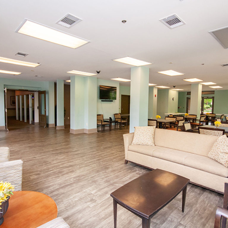 Community room at The Tower at Dorsey Manor Senior Residences - Senior Apartments in Marietta, GA