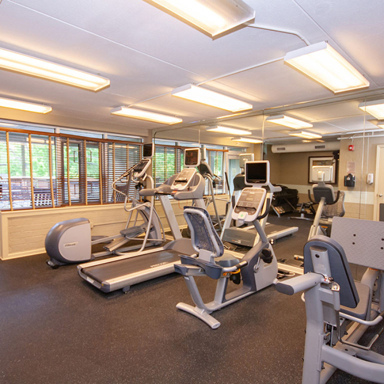 Fitness center at The Tower at Dorsey Manor Senior Residences - Senior Apartments in Marietta, GA