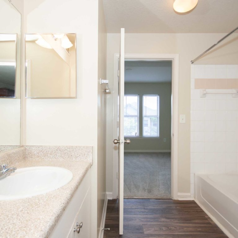Bathroom interior at Columbia Peoplestown - Apartments in Atlanta, GA