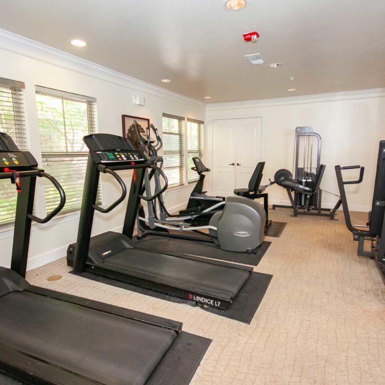 Fitness center at Columbia Peoplestown - Apartments in Atlanta, GA