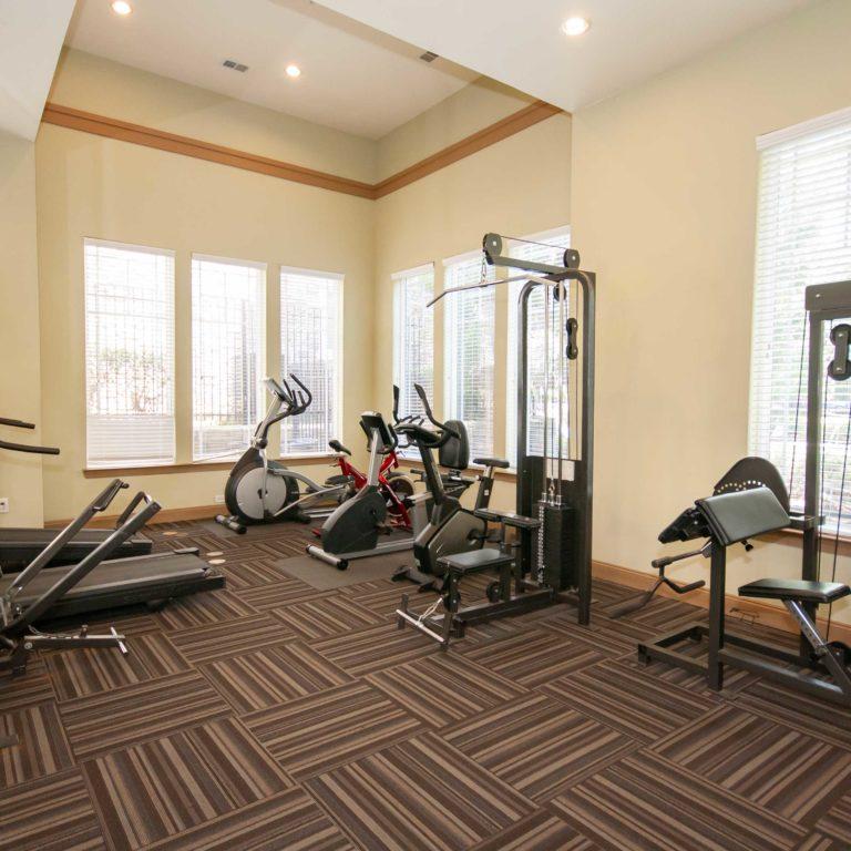 Fitness center at Columbia Estates Community - Apartments in West Midtown Atlanta, GA