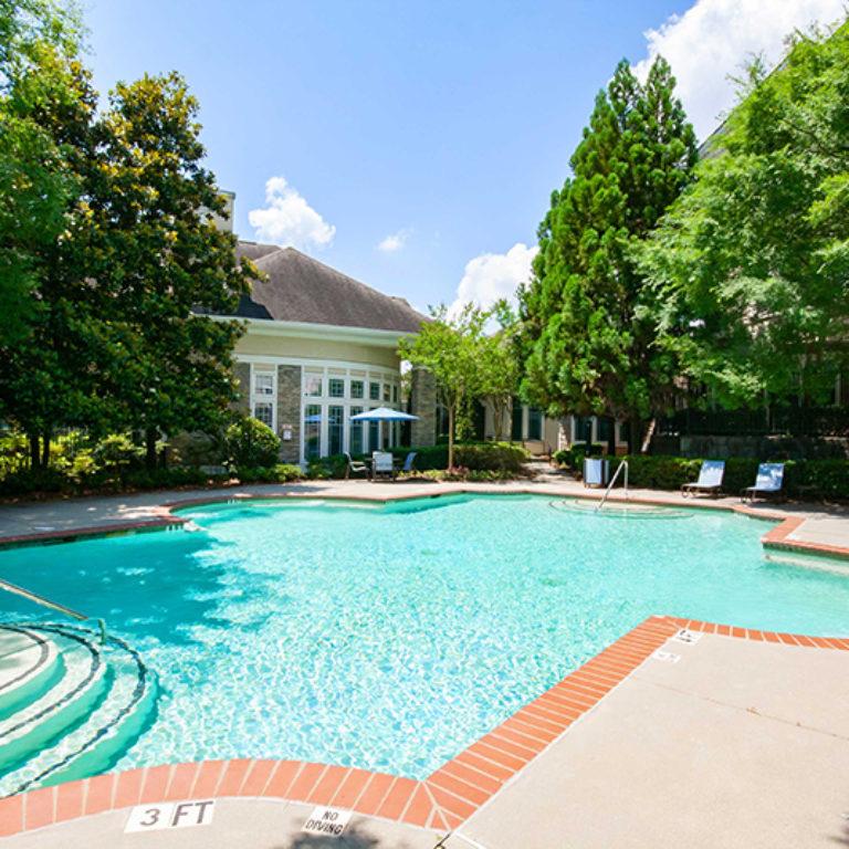 Pool at Columbia Estates Community - Apartments in West Midtown Atlanta, GA