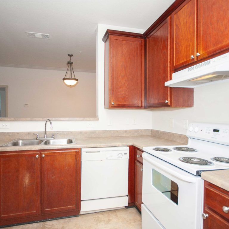 Interior kitchen at Columbia Grove Community - Apartments in West Midtown Atlanta, GA