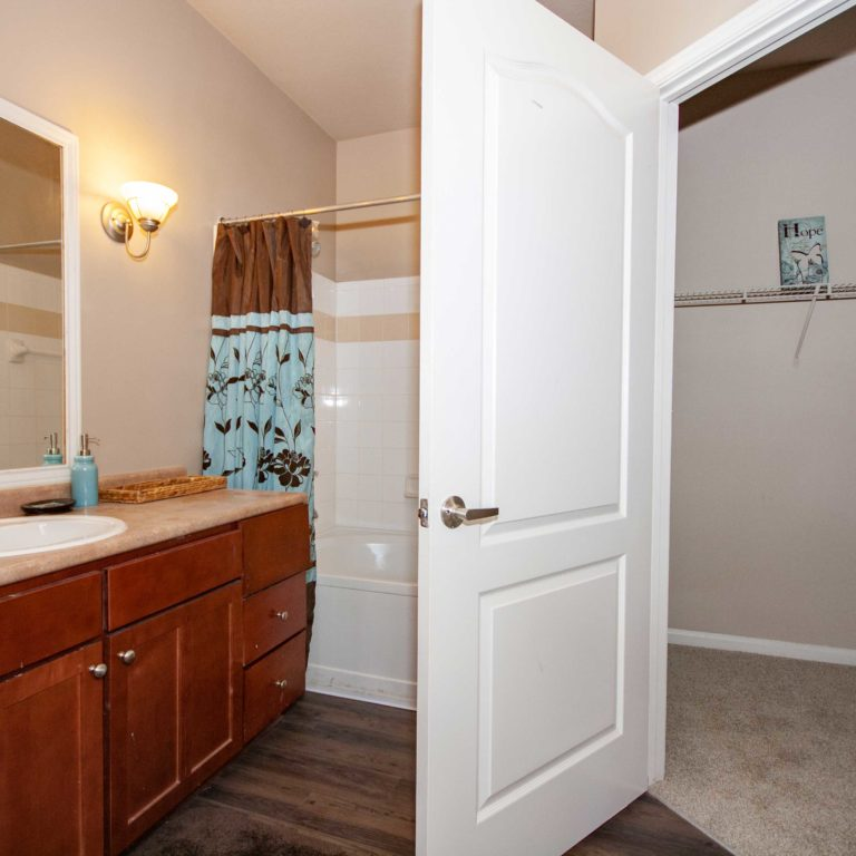 Apartment bathroom at Columbia Park Citi - Apartments in West Midtown Atlanta, GA