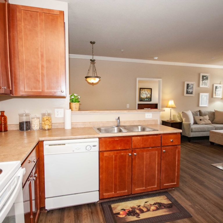 Kitchen interior at Columbia Park Citi - Apartments in West Midtown Atlanta, GA