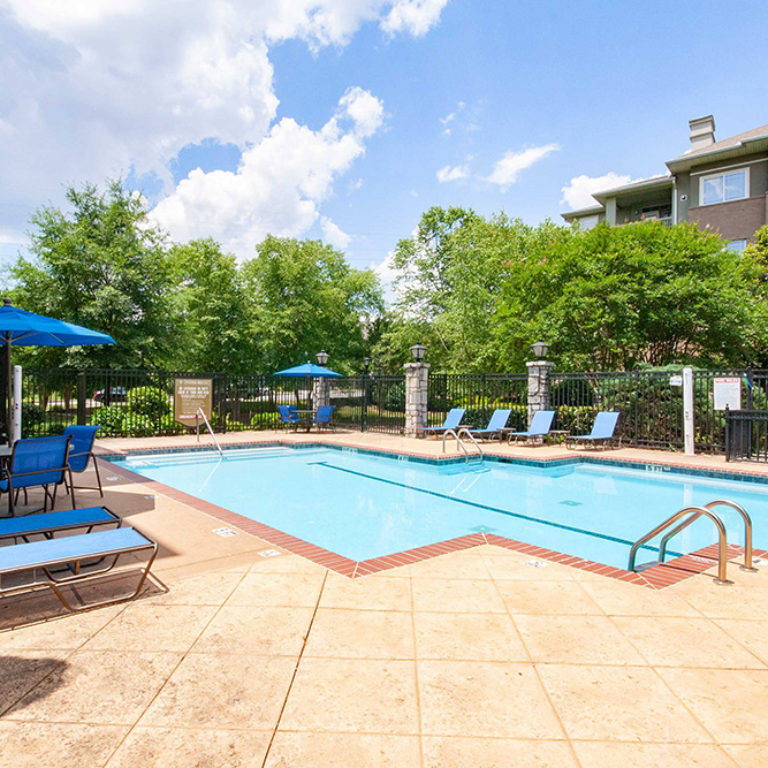 Community pool at Columbia Park Citi - Apartments in West Midtown Atlanta, GA