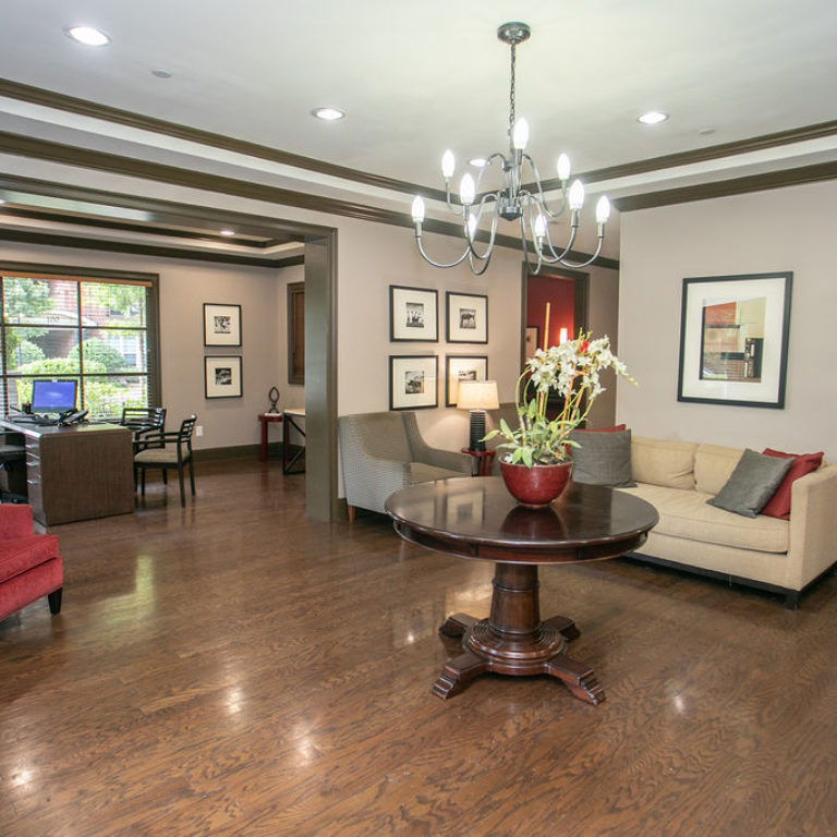Interior of the leasing office at Columbia Sylvan Hills - Apartments in Atlanta, GA
