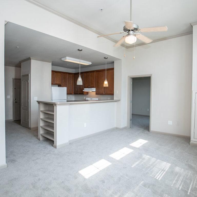 Living room interior at Columbia Sylvan Hills - Apartments in Atlanta, GA