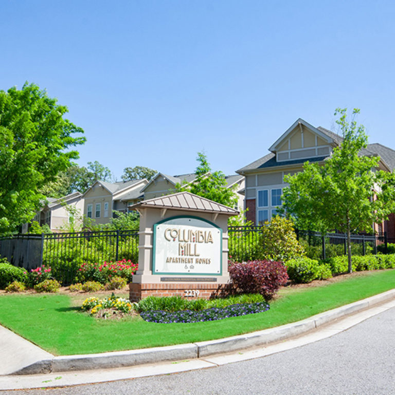 Community signage at Columbia Mill community - Apartments in East Atlanta, GA