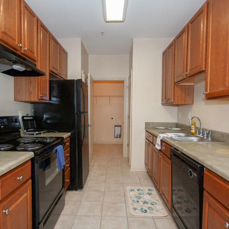 Interior kitchen at Columbia at South River Gardens - Apartments in Atlanta, GA